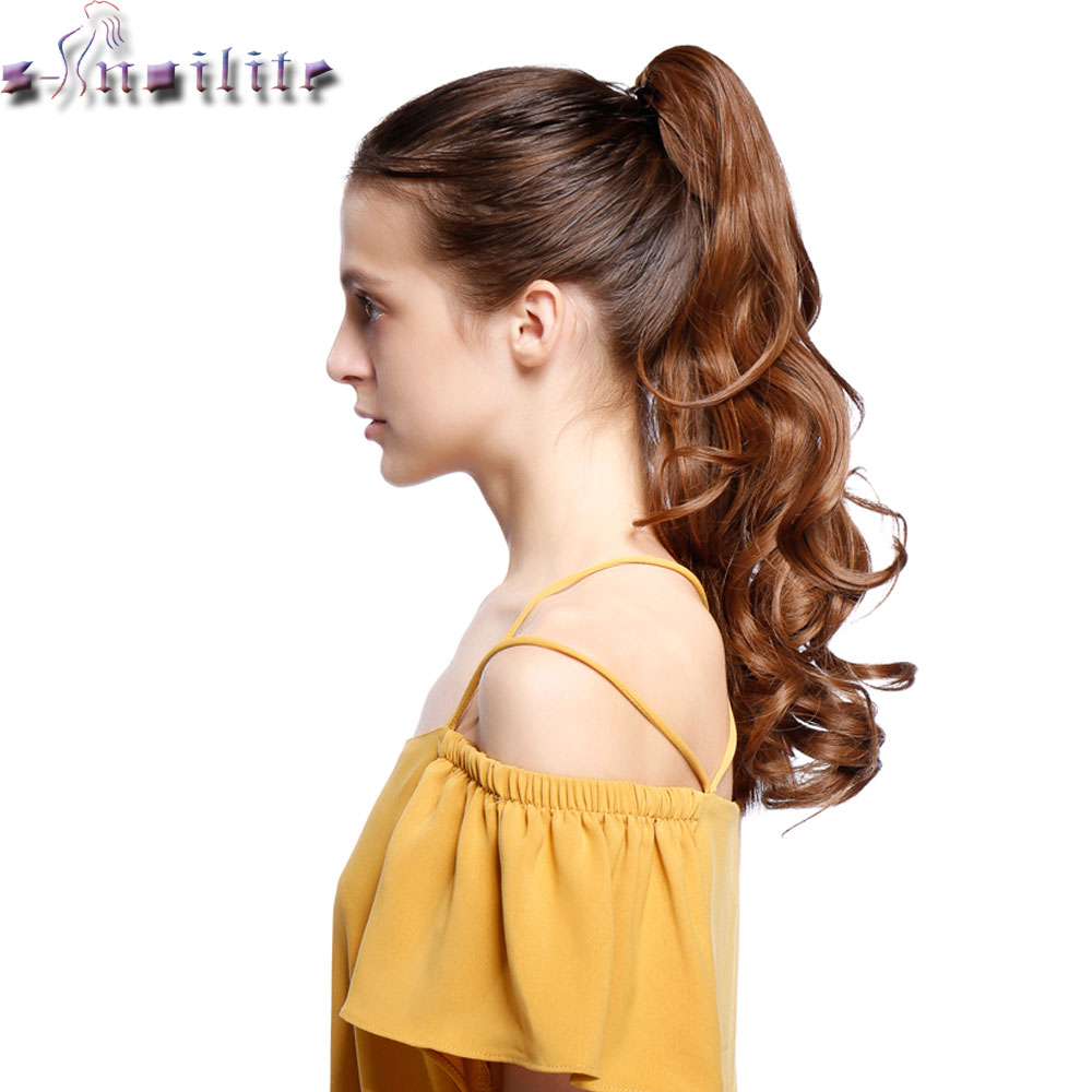 Soowee 24inch Long Blonde Red Wavy Pony Tail High Temperature Fiber Claw Hairpiece Ponytail Synthetic Hair Extensions Keep You Fit All The Time Hair Extensions & Wigs Synthetic Extensions
