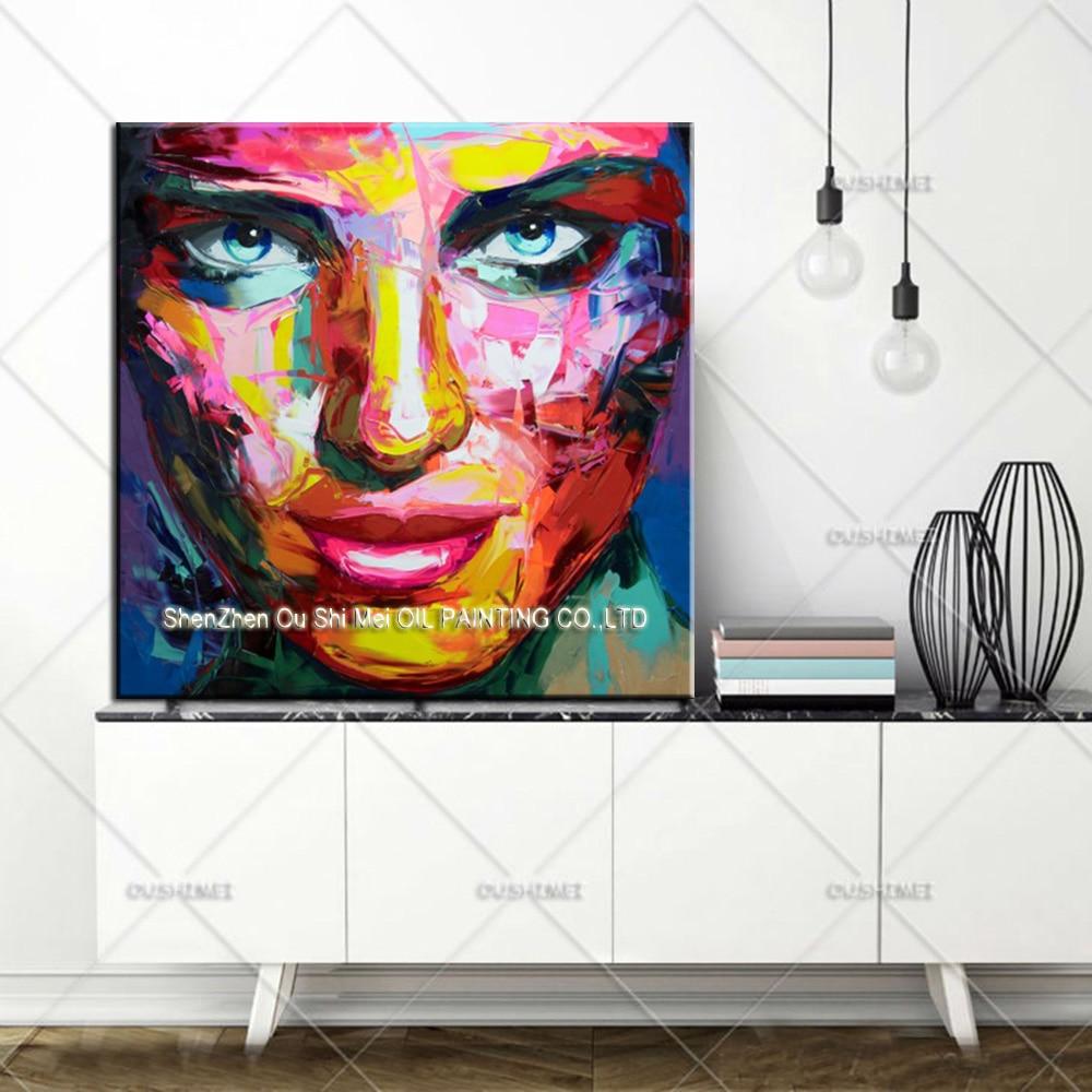 Mejor artista pintado a mano Francoise Nielly reproducción pintura - Decoración del hogar - foto 3