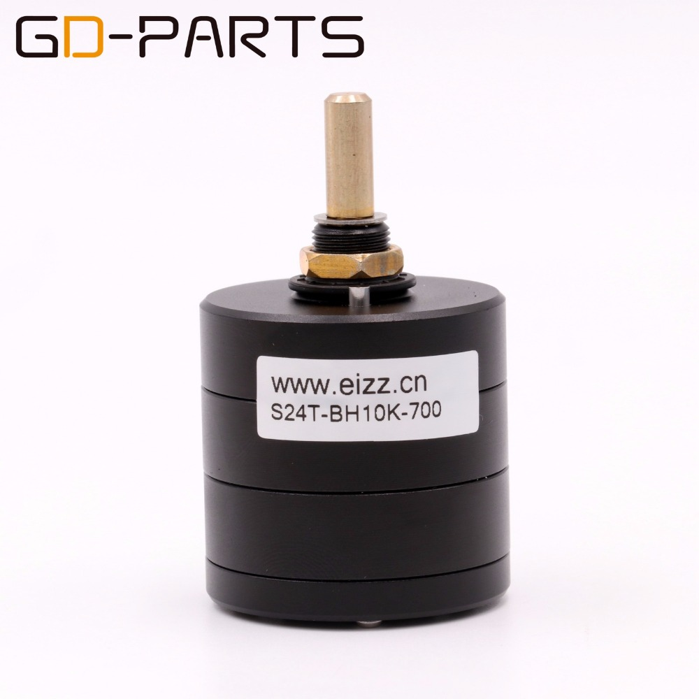 EIZZ LOG 2*50K 24 Steps Stereo Attenuator Volume Potentiometer Serial Type Hifi Audio Amplifier Sound Control DIY Upgrade 1PC spanish two tone double potentiometer 10k 50k
