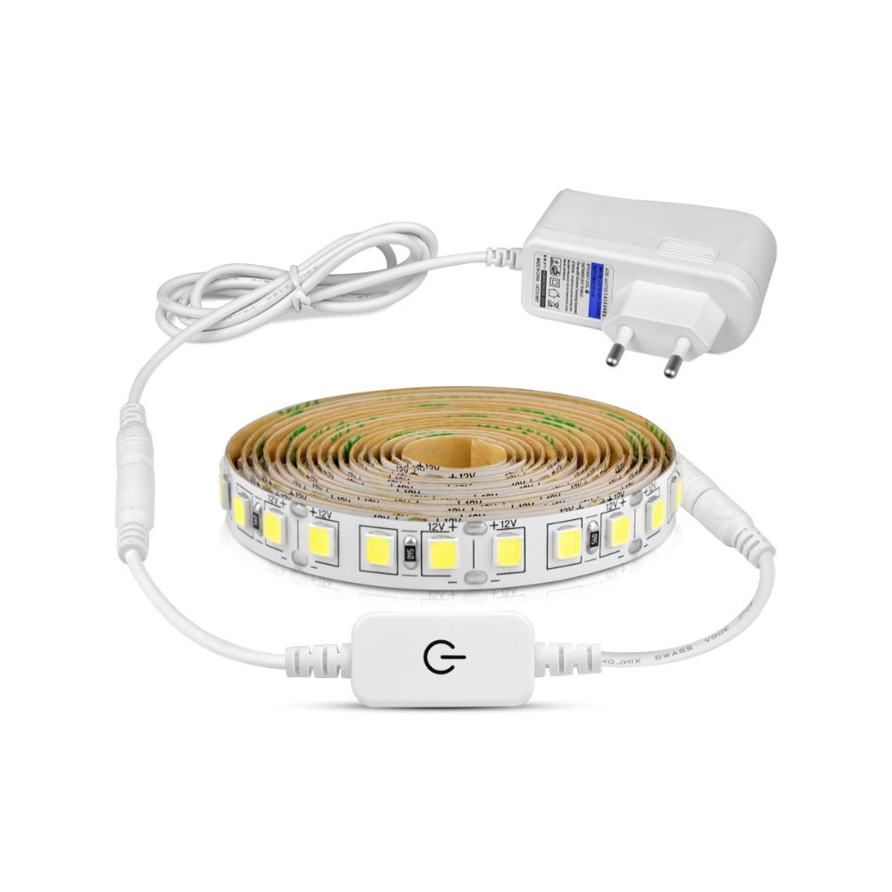 Super Bright 4040 SMD 5M LED Strip Light DC 12V LED Cabinet Lamp Touch Switch Dimmer Home Kitchen Decoration Better Than 5050SMD soccer-specific stadium