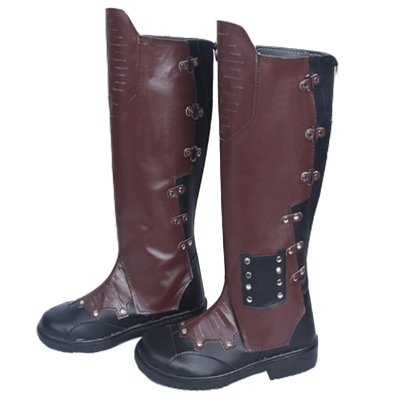 Guardians of The Galaxy Cosplay Shoes Peter Quill Star Lord Boot Men's Leather Knee High Boot Custom Made kid's box upd 2ed pb 1