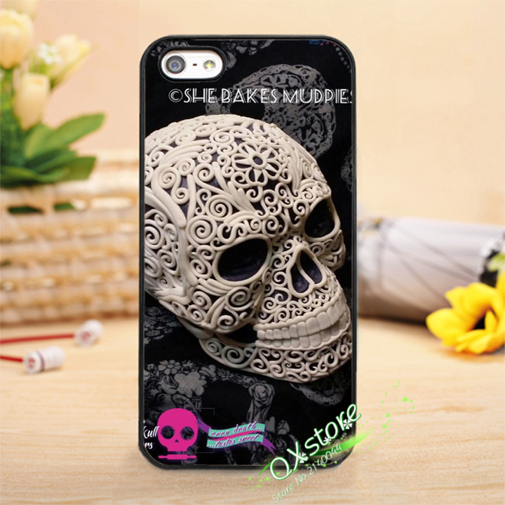 Mexican Skeleton Sugar Skull 6 Fashion Phone Cover Case For Iphone 4 4s 5 5s Se