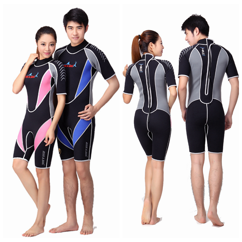 Short Sleeved 3MM Neoprene Men Women Wetsuit Snorkeling Jumpsuit Full Body Dive Diving Wet Suit One-piece Winter Swim Warm Surf sbart 3mm wetsuit scuba diving suit neoprene wetsuit men fishing surfing wetsuits full body one piece dive surf wet suits
