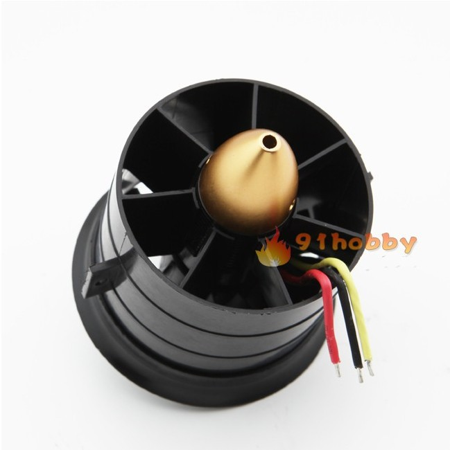 Free shipping+Change Sun 70mm Ducted Fan 12 Blades with EDF 2839 motor kv2600 all set