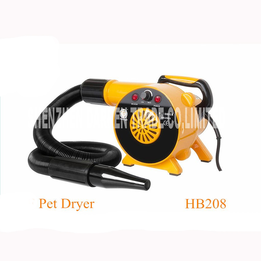 HB208 Hairdryer Motors Black Pet Dog Hair dryer Blower 220 v 110v 2300 w EU / au / plug of the United States Wind Variable pet dryer cat dog hair dryer anion 2800w 110 v 220 v variable speed puppy kitten hair dryer grooming tools eu au us uk plug
