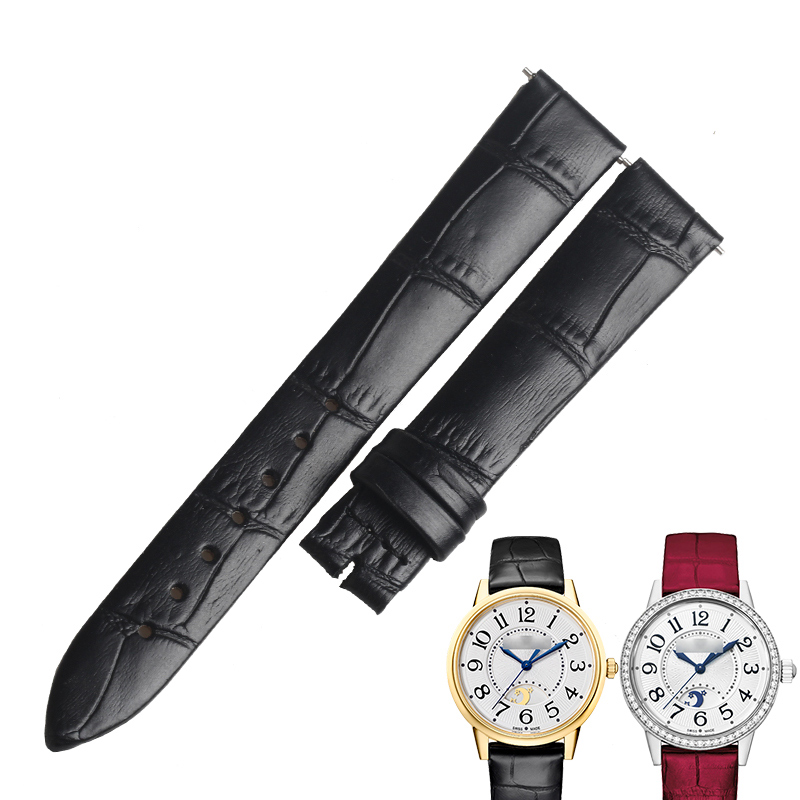 WENTULA watctchbands for Jaeger-LeCoultre Rendez-Vous Classic REVERSO calf-leather band cow leather leather strap watch band