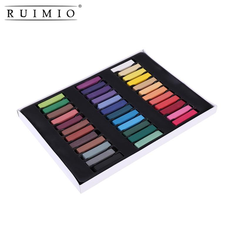 6 Colors Non-toxic Temporary Soft Pastel Hair Chalks DIY Hair Color Dye Chalks Kit цвет волос разноцветные