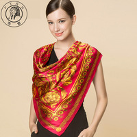 PTAH Women New Arrival Accessories100 Silk Satin Scarf Shawl Femme Thin Chiffon Luxury Square Tippet Muffler