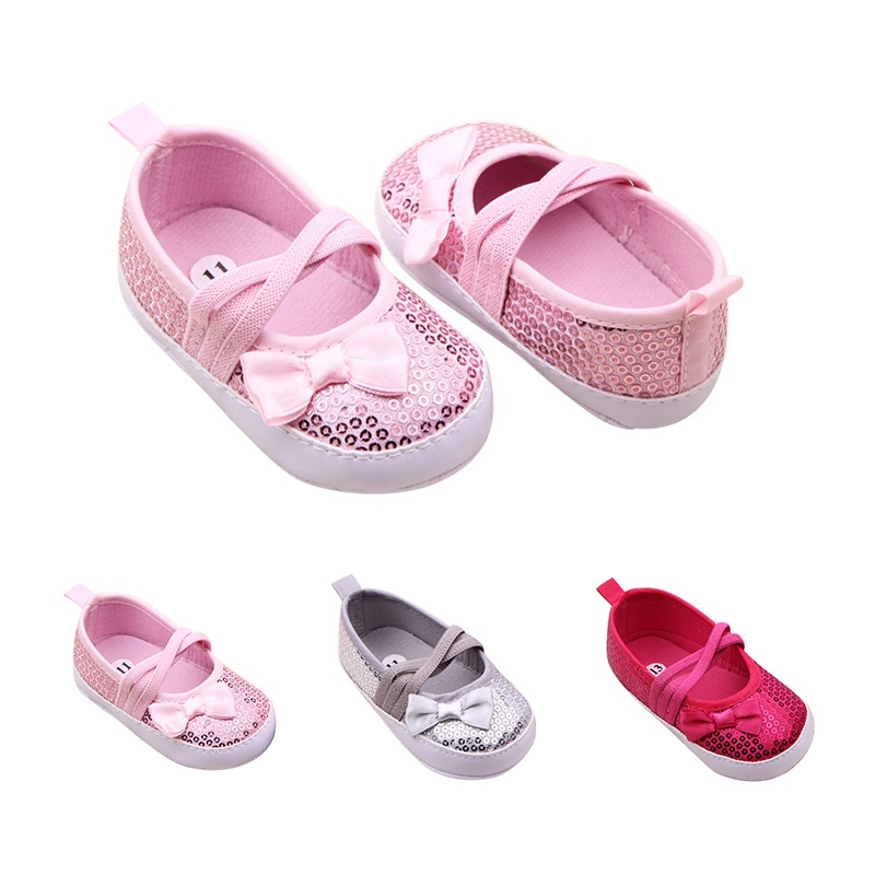 Toddler Shoes Newborn Baby-Girls 0-12M Bow Cute Elastic-Band