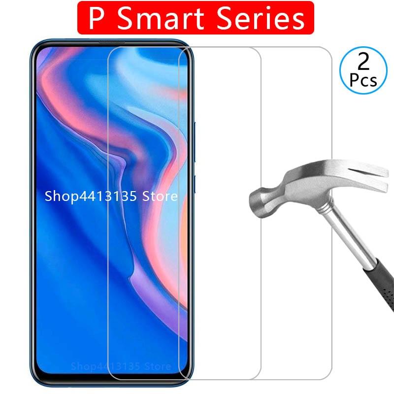 Temperato di vetro della cassa del telefono per huawei p smart z 2019, più copertura Etui Protezione Borsette Accessori su psmart p Smar psmart2019