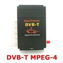 Автомобиль DVB-T MPEG-4 HD тюнер Цифрового ТВ box телеприемник Одноместный Антенна для Европейского Бесплатная доставка