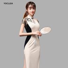 08a61018ddf27 Robe de Banquet de haute qualité jeune fille Cheongsams robe velours Qipao  vêtements chinois traditionnels longues
