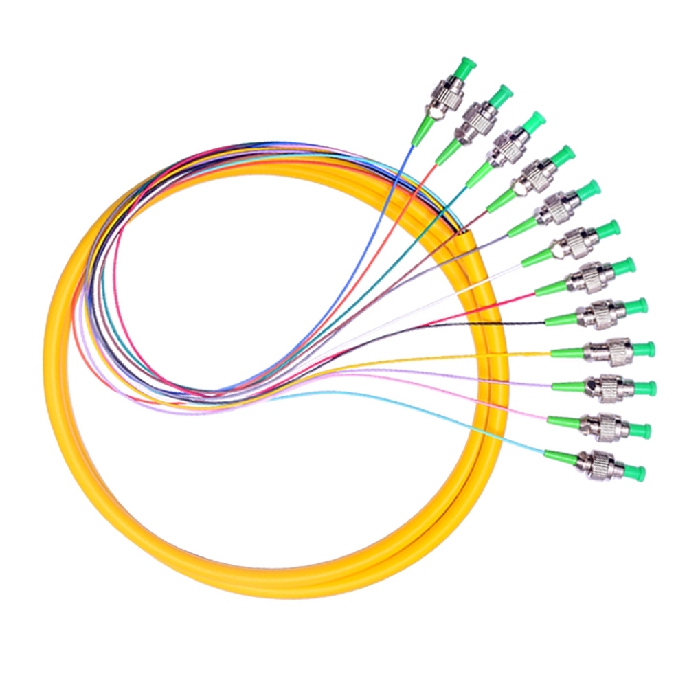 12 Strand 9//125 Fiber Optic Pigtail 1.2m SC//APC Single Mode,12 fiber pigtail