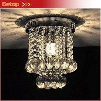 Best Price Luxury Chandelier Lighting Lustre Fixtures LED Crystal Lighting Stainless Steel Frame Entrance Aisle Corridor Lights