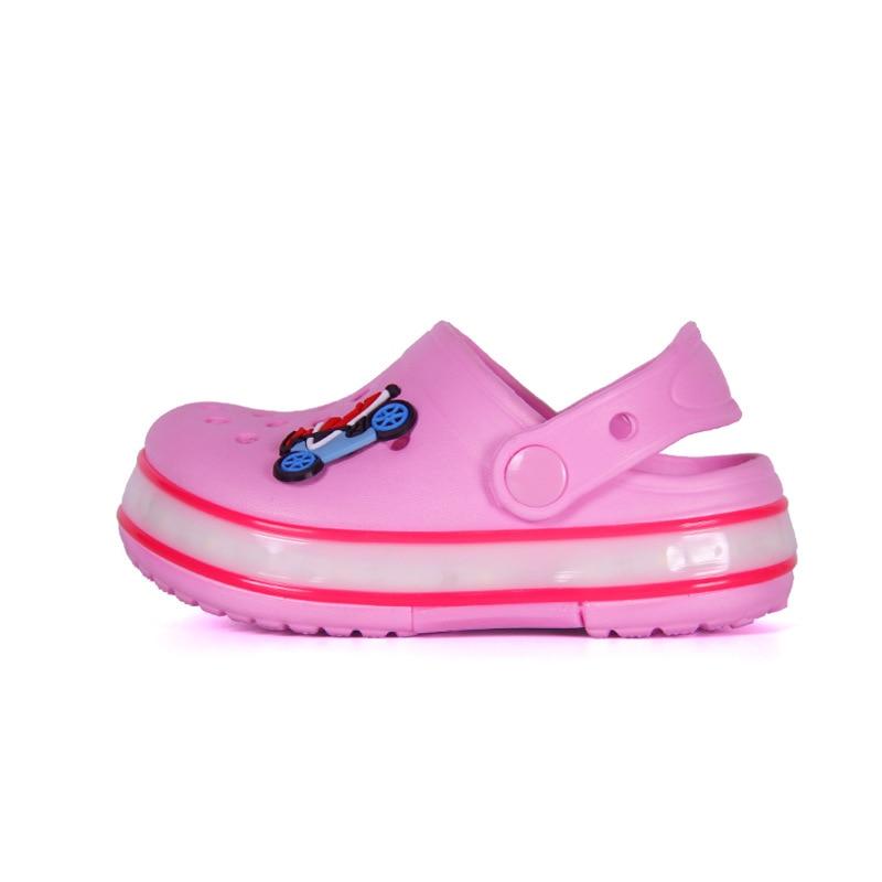 2021 New Kids Sandals Summer Shoes for Girls LED Beach Sandals EVA Shoes for Boys Sandals Children Shoes Flat Sandals 6