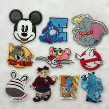 50pcs/lot Cartoon Animation Mouse Embroidery Iron Patches for Clothing  Applique Diy Patch Cute Decoration