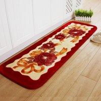 55X165CM Long Carpets For Living Room Soft Raschel Bedroom Bedside Rugs And Carpets Flower Kitchen Carpet/Door Mat 1.5CM Thick