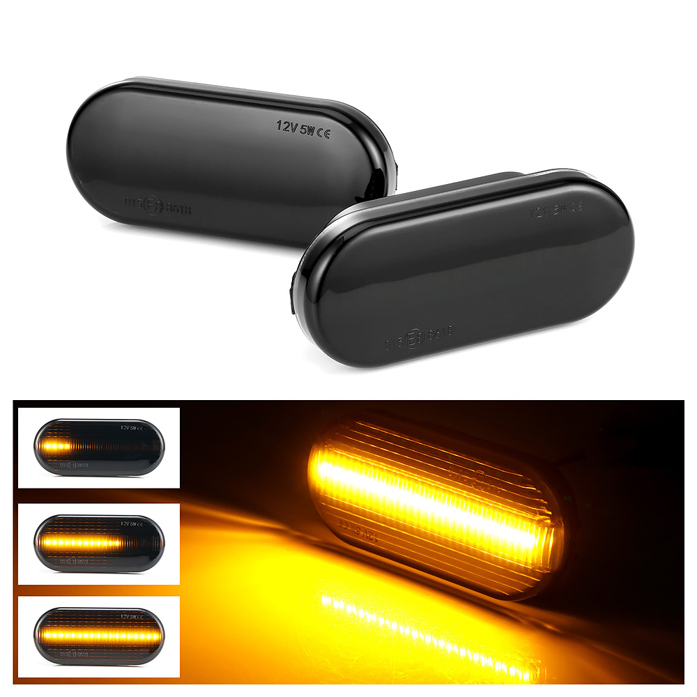 <font><b>Led</b></font> Dynamic Side Marker Turn Signal <font><b>Light</b></font> Sequential Blinker <font><b>Light</b></font> For VW <font><b>Golf</b></font> 3 <font><b>4</b></font> MK3 MK4 Passat 3BG Polo 6N 9N Bora Vento image