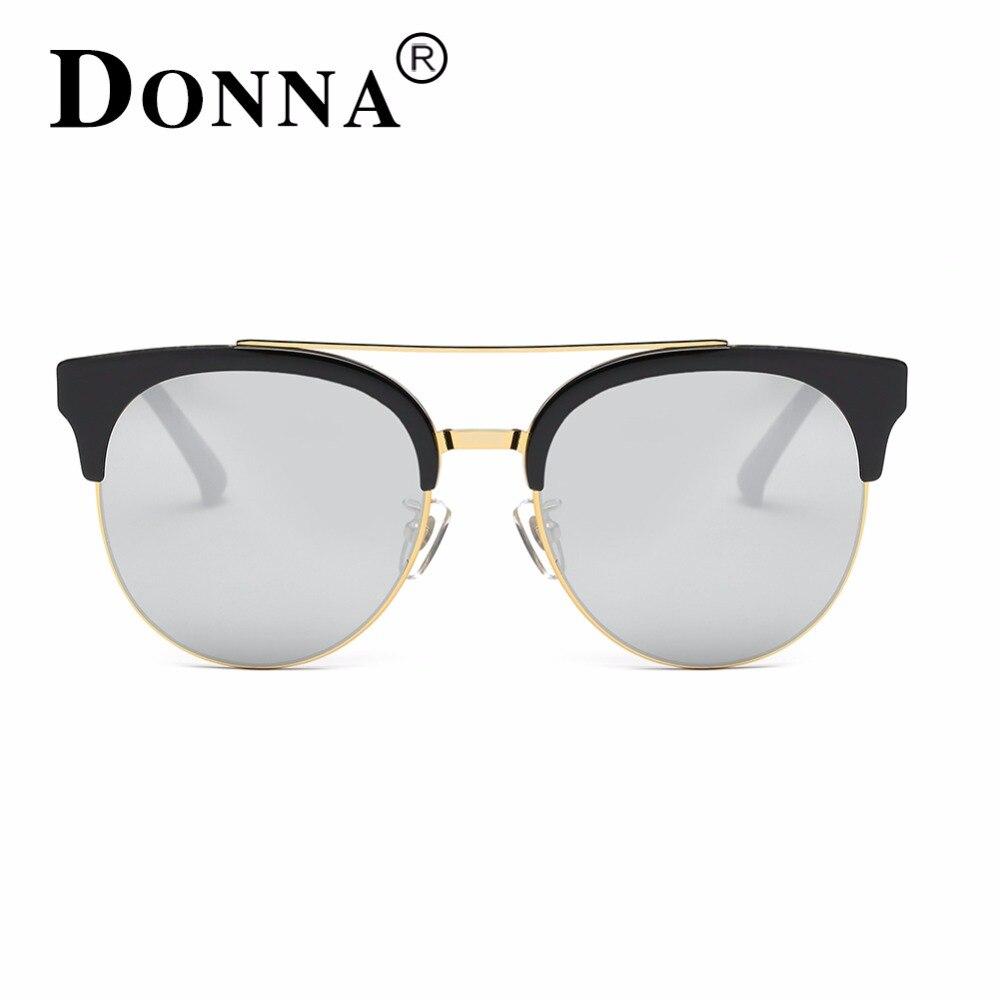 9492b083d2 Donna Fashion Sunglasses Women Mirror Sun Glasses Big Oversized Sliver Round  Cat Eye Driver Fishing Desinger Eyewear HD Lens D51-in Sunglasses from  Apparel ...