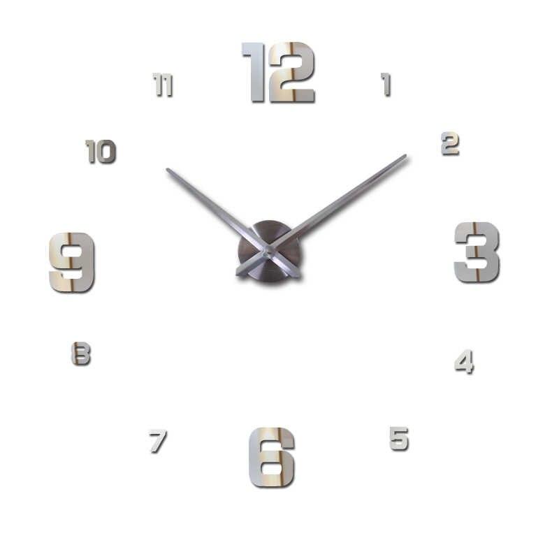 חדש אופנה diy אקריליק מראה קיר שעון אירופה 3d גדול קוורץ שעון עדיין חיים שעוני סלון עיצוב הבית מדבקות
