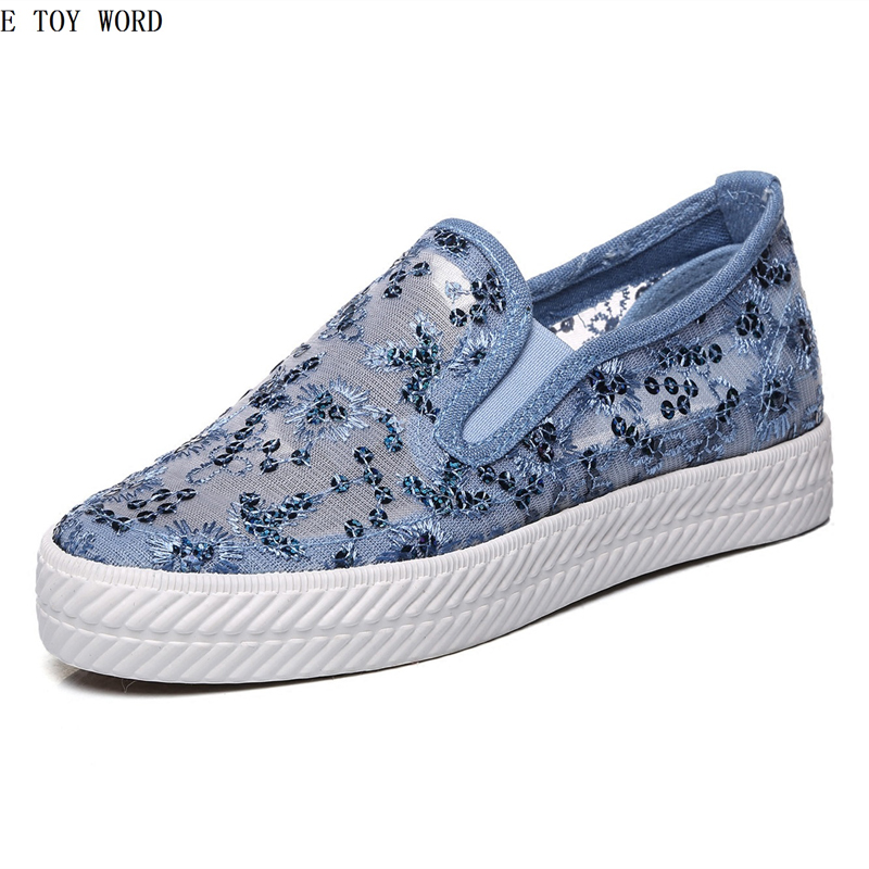 Summer the new bud silk net cloth shoes female hollow out breathable canvas shoes lazy white casual shoes with flat sole women s shoes net surface hollow out casual womens shoe 2017 summer new breathable thick soled white fashion woman women shoes