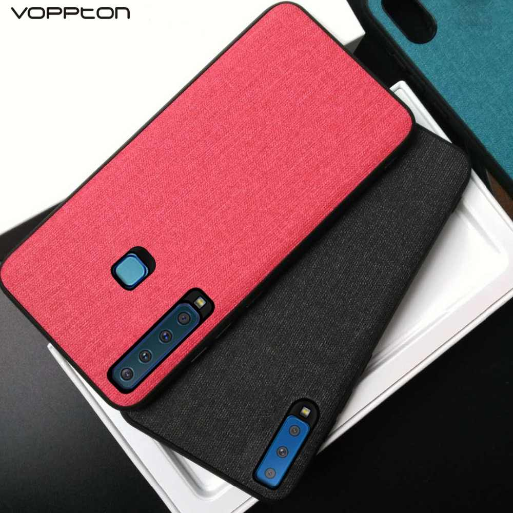 promo code c25c9 6807b Voppton For Samsung Galaxy A9 2018 A7 2018 Case Silicone Frame Cloth Hard  PC Back Cover For Samsung A750 A9 2018 A920 Fundas