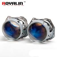 ROYALIN Upgrade Hella 3 5 G2 Bi Xenon Projector Lens Blue Film Coating 3 0 Aluminum