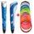 Lo nuevo de 1.75mm abs/pla diy smart 3d pluma impresión 3d fabricante de la pluma + 10 m filamento + adaptador creativo regalo para los niños de dibujo pintura