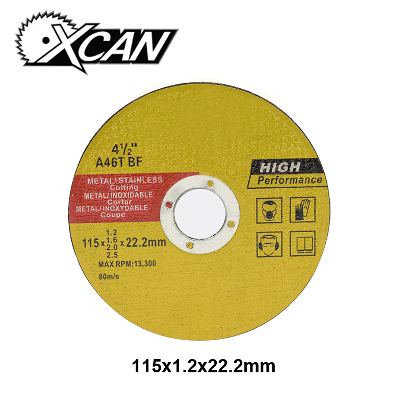 XCAN 1pc Diameter 115mm Stainless Steel Resin Cutting Discs For Metal Cutting Grinding Wheel Angle Grinder Power Tools XCAN 1pc Diameter 115mm Stainless Steel Resin Cutting Discs For Metal Cutting Grinding Wheel Angle Grinder Power Tools