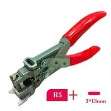 Perfurador de buraco de 3x13mm e perfurador de canto r5 para cartão de pvc, foto, papel; perfurador de papel 2 em 1