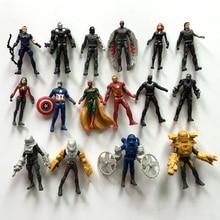 цена на 16pcs Captain America3 Action Figure toys The Avengers Legends Civil War Vision PVC Action Figure Collectible Model Toy