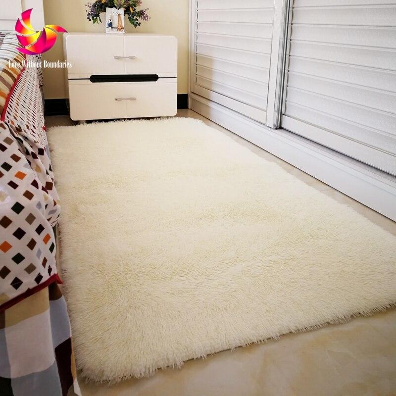 US $17.6 |Feste Farbe Lange Haar Teppich Shaggy Weichen Bereich Teppich  Schlafzimmer Wohnzimmer Anti Slip Kinder Matte Plüsch Teppich flur teppich  ...