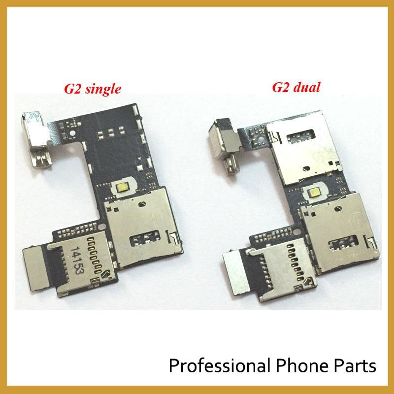 New Original For Motorola Moto G2 XT1068 XT1069 G 2nd Sim Card Holder Micro SD Memory Socket Slot Tray Flex Cable High Quality
