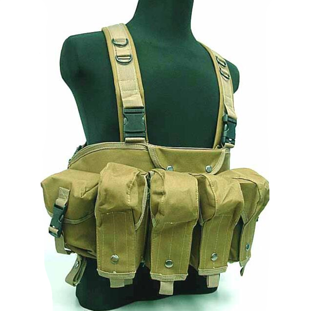 Military Camouflage Tactical Vest Airsoft Ammo Chest Rig AK 47 Magazine Carrier Combat outdoor hunting vest colete tatico