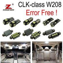 14 шт. ошибок светодиодные лампы Интерьер плафон комплект для Mercedes-Benz CLK W208 CLK320 CLK430 купе (98-02)
