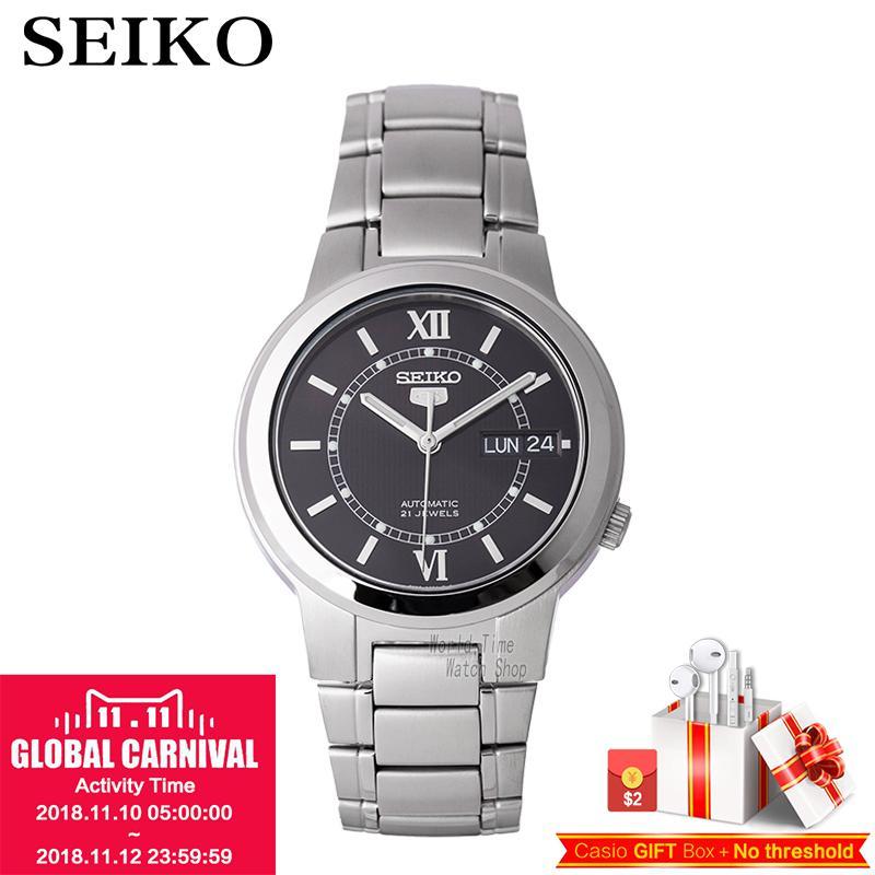SEIKO Watch No. 5 Automatic Mechanical Watch Steel Strap Men 'S Watches SNKL89K1 SNKK33J1 SNKA23K1 цена и фото