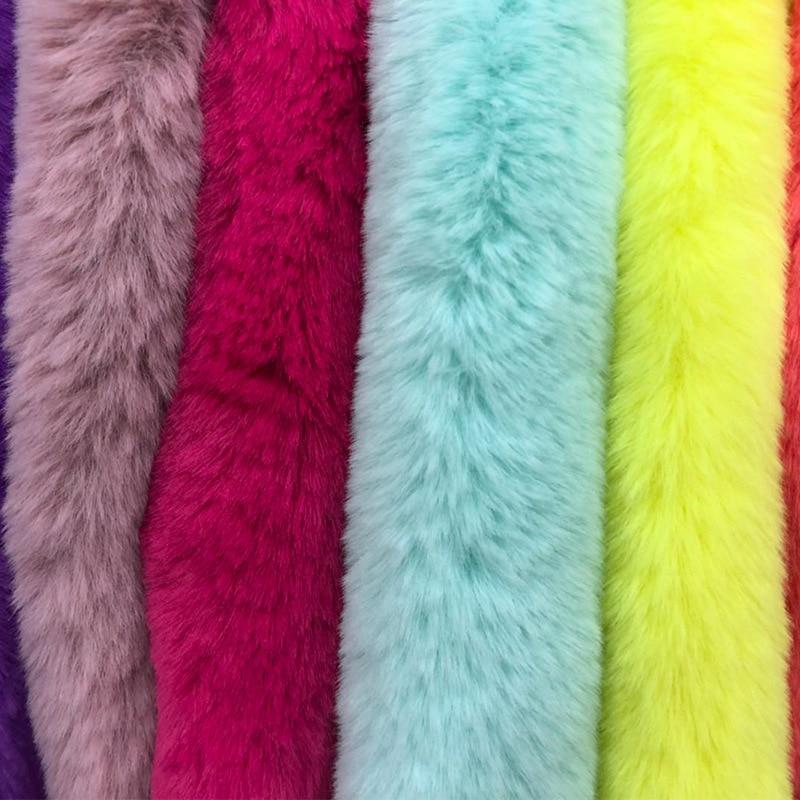 Automne et hiver vêtements en peluche tissu artificiel lapin cheveux chaîne lapin fourrure imitation lapin fourrure artificielle fourrure de lapin