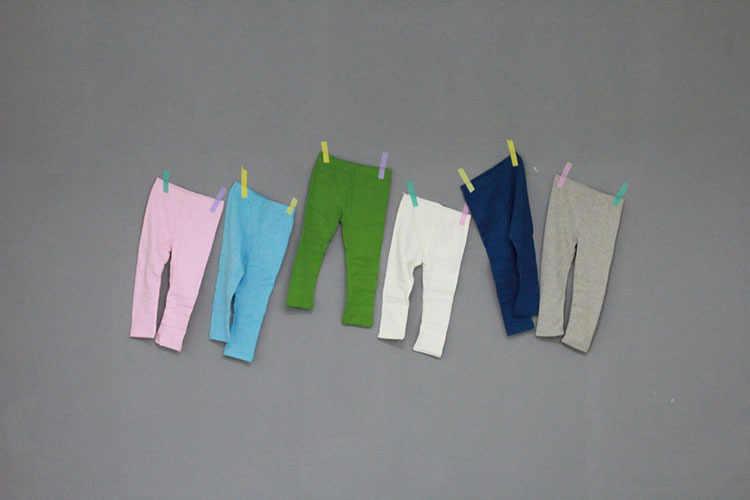 2018 baby girl legginsy cukierki kolor 10 kolorów 5 rozmiarów czesana bawełna wełniany polar kobiet dzieci jesień i zima gruby pełnej długości