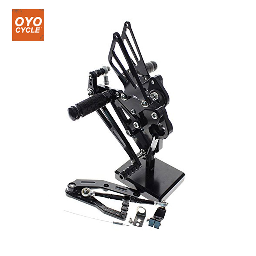 CNC Adjustable Rearsets Foot Rest Foot Pegs Foot Rests For Yamaha MT09-FZ-09 2013 - 2018 XSR900 XSR 900 2016 2017 for yamaha mt09 fz09 xsr900 cnc adjustable rearset foot rest foot pegs mt fz 09 2013 2018 xsr900 2016 2017 foot rests