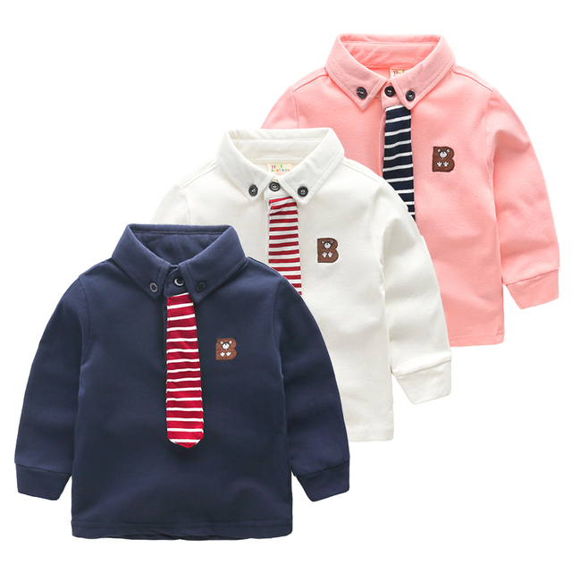 boy long sleeved T-shirt 2017 new kids children cotton baby tops spring