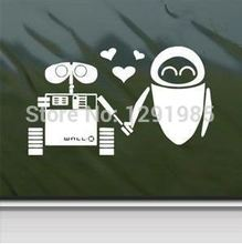 fashion Wall Decal Wall E Eve Robot Love Car Window Wall Notebook Laptop Sticker Decal wall vinyl sticker custom made Poster