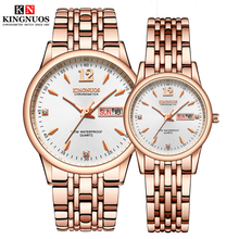 1 Pair Hours Quartz WristWatches for Men and Women 2020 Fashion Luxury Auto Date Business Couple