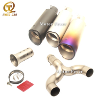Motorcycle Exhaust Escape Moto DB Killer Muffler 51MM Connect Pipe Silencer Mid Tube for Benelli 600 Bj600 BN002 Exhaust System