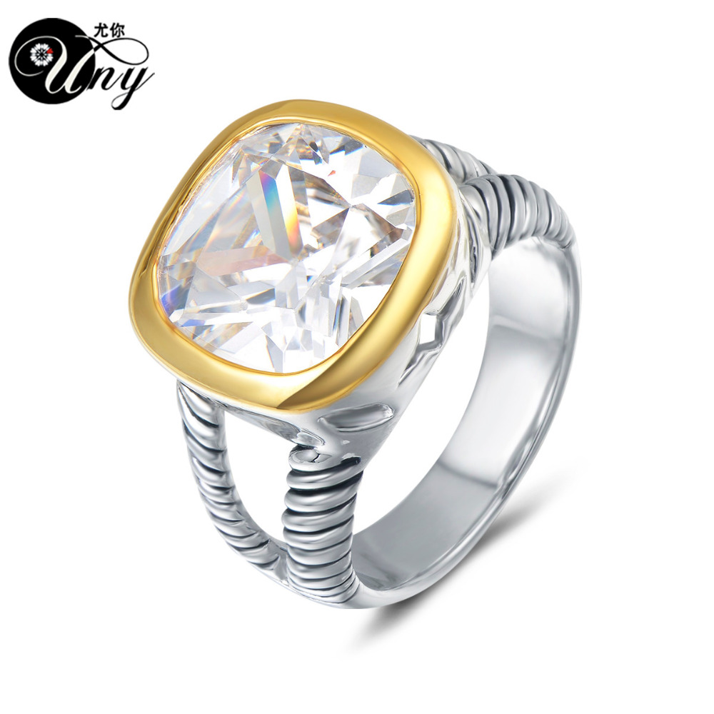UNY Ring Verdreht Kabel Draht Ringe Designer Fshion Marke David ...