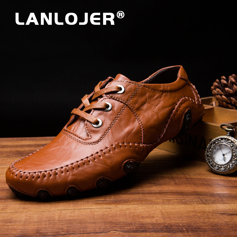 italian mens genuine leather dress shoes 2018 wedding cie shoes men loafers formal comfortable business shoes