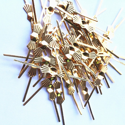 1000 pces l45mm cromo ouro borboleta fivela clipes de gravata granulos de cristal acessorios lustre