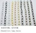 2 unids cadena Colgante lámparas de Cristal de la Longitud del cuerpo 60 cm diámetro 3.8mm cerrado accesorios de iluminación BRICOLAJE