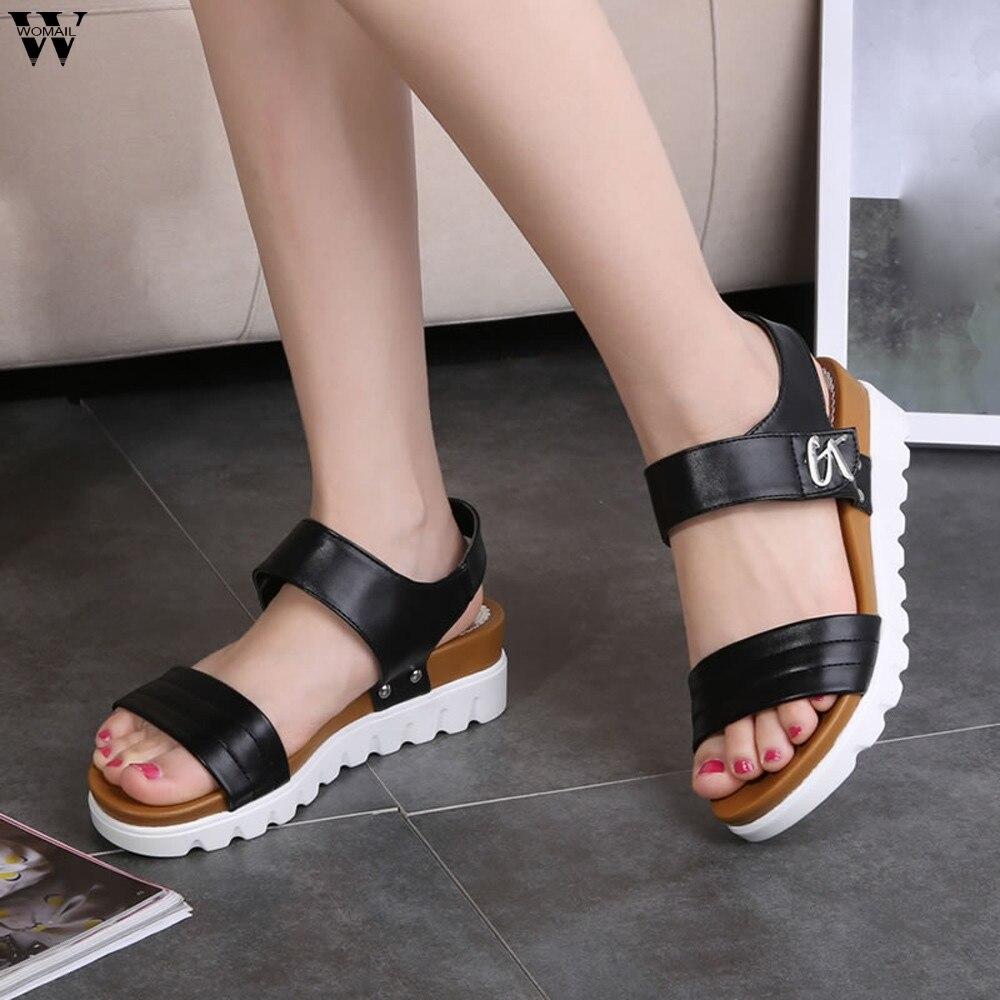 New Summer Women Sandals Peep-toe Sandalias Flat Shoes Roman Sandals Shoes Woman Mujer Ladies Flip Flops Footwear  Jan14