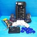 Tcp/ip de Cuatro Puertas Del Panel de Control de Acceso Rfid 4 UNIDS KR101E rfid Sistema de Tarjeta de Lector de tarjetas de Control de Acceso C3-400 de Cuatro Puertas de Un Modo