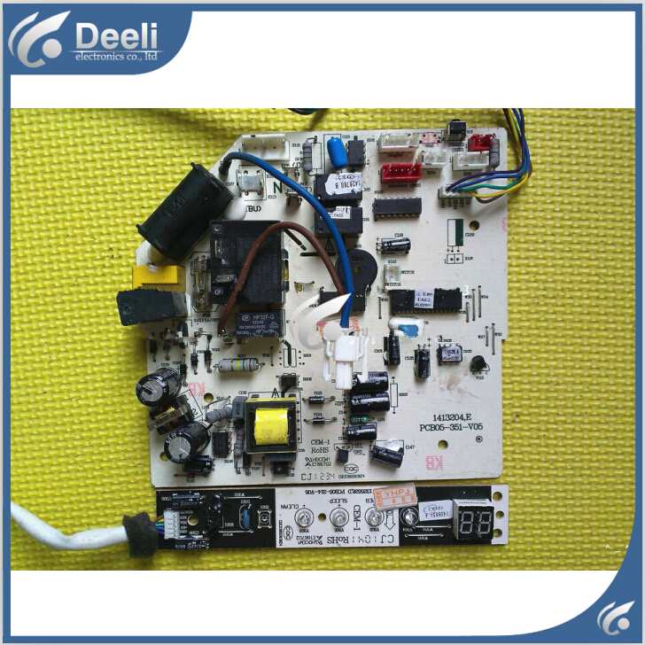 95% NEW for air conditioning motherboard pc board PCB05-351-V05 display panel PCB05-314-V05 board good 95% new good working for air conditioning pcb05 163 v08 power supply board motherboard